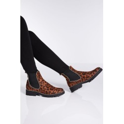 Leopard Print Stud Ankle Boots found on Bargain Bro UK from Quiz Clothing