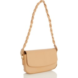 Nude Twist Strap Bag found on Bargain Bro UK from Quiz Clothing