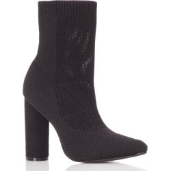 Black Pointed Block Heel Boots found on Bargain Bro UK from Quiz Clothing