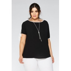 Curve Black Cold Shoulder Top found on Bargain Bro UK from Quiz Clothing