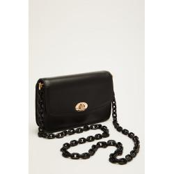 Black Plastic Chain Bag found on Bargain Bro UK from Quiz Clothing