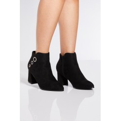 Black Triple Circle Block Heel Ankle Boots found on Bargain Bro UK from Quiz Clothing