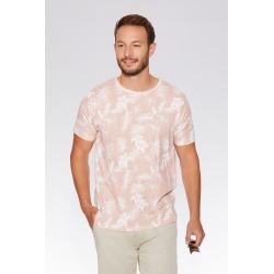 Pink & Ecru Flower Print T-Shirt found on Bargain Bro UK from Quiz Clothing
