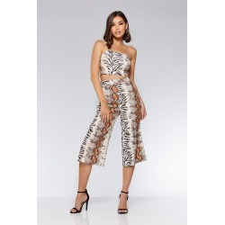 Brown And Orange Snake Print Culotte Trousers found on Bargain Bro UK from Quiz Clothing
