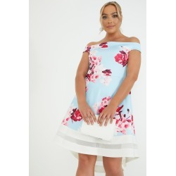 Curve Floral Bardot Dress found on MODAPINS from Quiz Clothing for USD $24.71