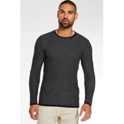Black and Grey Textured Crew Neck Jumper found on Bargain Bro UK from Quiz Clothing