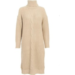 Stone Chunky Knitted Jumper Dress found on Bargain Bro UK from Quiz Clothing