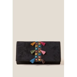 Twila Tassel Clutch - Black found on MODAPINS from Francesca's Collections for USD $44.00