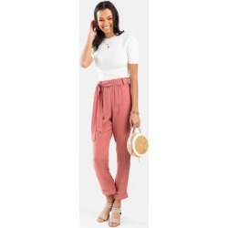 Lily Front Tie Joggers - Rose found on MODAPINS from Francesca's Collections for USD $44.00