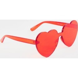 Mona Basic Heart Shaped Sunglasses in Red - Red found on MODAPINS from Francesca's Collections for USD $14.00