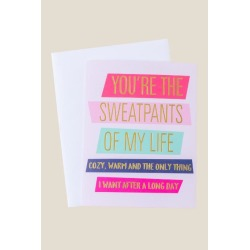 Sweatpants Of My Life Card - Pink