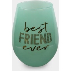 Best Friend Ever Wine Glass - Blue