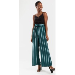 Baldwin Spotted Paperbag Jumpsuit - Hunter Green found on MODAPINS from Francesca's Collections for USD $14.98