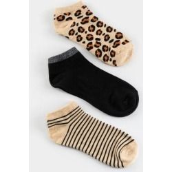 Hope Leopard Mix Sneaker Sock Set - Heather Oat found on MODAPINS from Francesca's Collections for USD $14.00