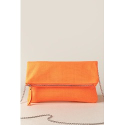 Kacey Perforated Clutch - Orange found on MODAPINS from Francesca's Collections for USD $34.98