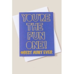 Best Aunt Ever Card - Blue found on Bargain Bro India from Francesca's Collections for $5.50