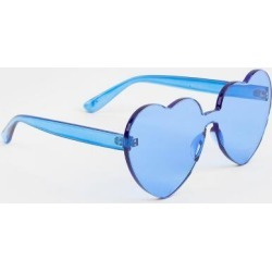 Mona Basic Heart Shaped Sunglasses - Blue found on MODAPINS from Francesca's Collections for USD $14.00