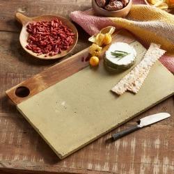 Green Concrete Platter