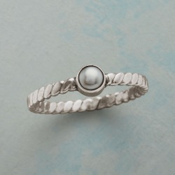 Pointedly Pearl Ring found on Bargain Bro India from Sundance for $54.99