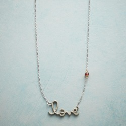 Love Lettered Necklace found on Bargain Bro India from Sundance for $68.00