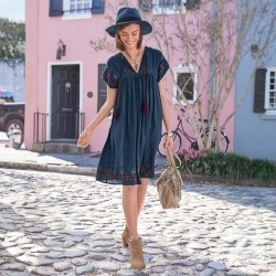 Embroidered Day Dress found on Bargain Bro India from Sundance for $158.00