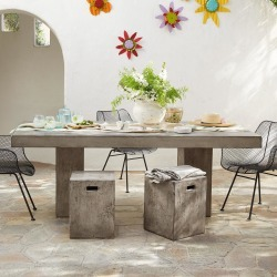 Gravitas Cement Dining Table 6' found on Bargain Bro Philippines from Sundance for $1895.00