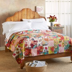 Hailey Pacthwork Lightweight Quilt found on Bargain Bro India from Sundance for $225.00