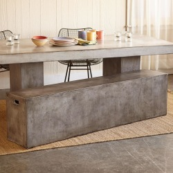 Gravitas Cement Bench found on Bargain Bro Philippines from Sundance for $945.00