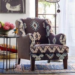 Baja Blue Kilim Club Chair found on Bargain Bro Philippines from Sundance for $1295.00