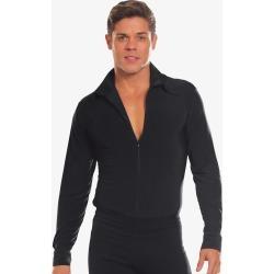 Dance America Mens Full Zipper Long Sleeve Ballroom Dance Top MS5