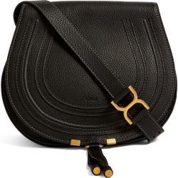 Chloé Medium Leather Marcie Saddle Bag found on Bargain Bro UK from harrods.com