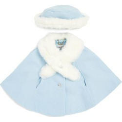 Sarah Louise Faux Fur-Trim Cape and Hat Set (6-24 Months) found on Bargain Bro UK from harrods.com