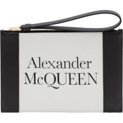 Alexander McQueen Leather Logo Zip Pouch found on Bargain Bro UK from harrods.com