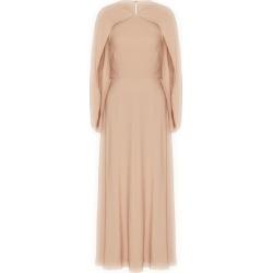 Valentino Silk Cape-Trim Dress found on Bargain Bro UK from harrods.com