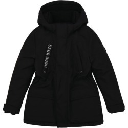 Boss Kids Logo Hooded Parka Jacket (4-16 Years) found on Bargain Bro UK from harrods.com