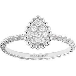 Boucheron White Gold Diamond Serpent Bohème Ring found on MODAPINS from harrods.com for USD $2827.16
