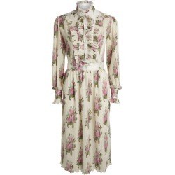 Paco Rabanne Floral Pleated Midi Dress found on Bargain Bro UK from harrods.com