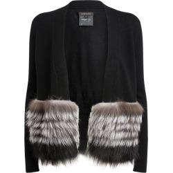 Izaak Azanei Fur-Trim Cardigan found on MODAPINS from harrods.com for USD $567.47