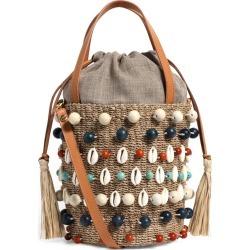 Aranaz Embellished Octo Bucket Bag found on MODAPINS from harrods.com for USD $245.79