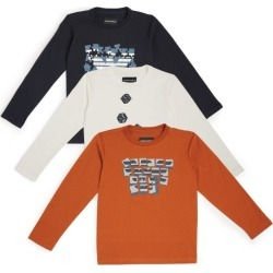 Emporio Armani Kids Set of 3 Logo T-Shirts (4-16 Years) found on Bargain Bro UK from harrods.com