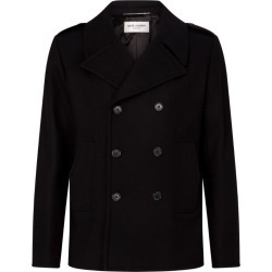 Saint Laurent Wool Double-Breasted Coat found on Bargain Bro UK from harrods.com