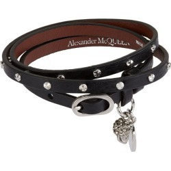 Alexander McQueen Leather Studded Wrap Bracelet found on Bargain Bro UK from harrods.com