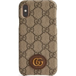 Gucci GG Supreme Canvas iPhone XS Case found on Bargain Bro UK from harrods.com