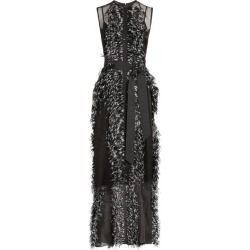 Huishan Zhang Beau Feather-Trim Gown found on MODAPINS from harrods.com for USD $2896.59