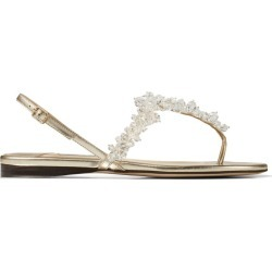 Jimmy Choo Gemina Nappa Leather Sandals found on Bargain Bro from harrods.com for £498