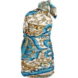 Moschino Baroque Print One-Shoulder Dress