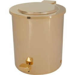 ZODIAC Cylinder Gold-Plated Pedal Bin found on Bargain Bro UK from harrods.com