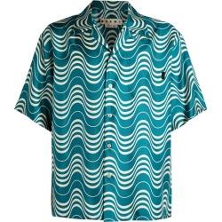 Marni Oversized Wave Print Shirt found on Bargain Bro UK from harrods.com