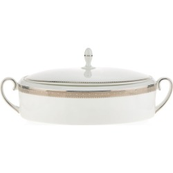 Wedgwood Lace Platinum Covered Vegetable Dish (30cm) found on Bargain Bro UK from harrods.com