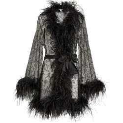 Gilda & Pearl Lace Feather-Trim Robe found on MODAPINS from harrods.com for USD $2820.07